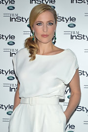 Gillian Anderson wore her hair in a sexy, side-swept ponytail at the 10th Anniversary party for 'InStyle.'