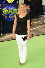 Holly Branson managed to look great in a simple tee and pants ensemble for the musical.