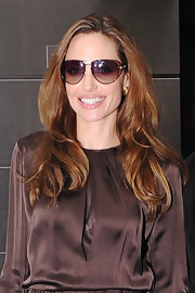 Angelina Jolie wore her hair in casually tousled waves while out in NYC.