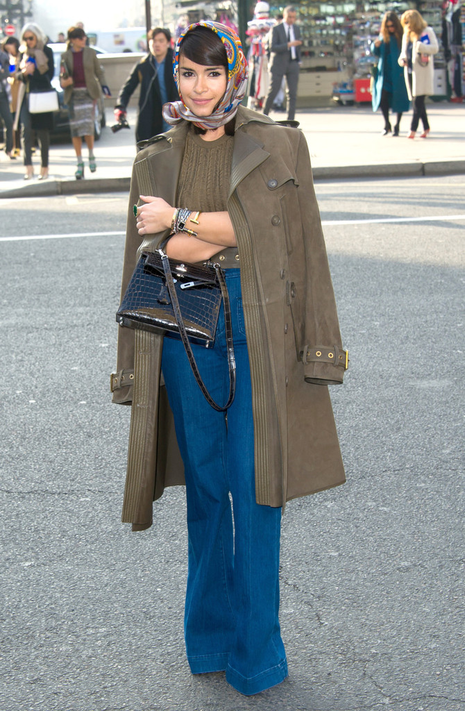 Sunday March 4, 2013: Miroslava Duma arrives at Stella McCartney Fall-Winter 2013/2014 Ready-to-Wear collection show, at the Opera in Paris.
