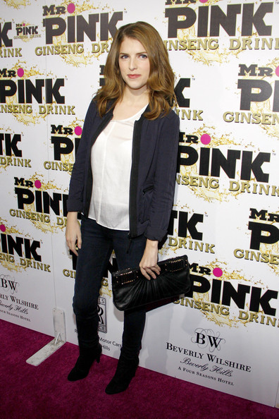 Anna Kendrick Leather Clutch