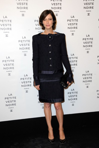 Laetitia Hallyday attending the 'Chanel The Little Black Jacket' exhibition launch at the Grand Palais in Paris
