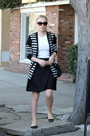 Anna Paquin visited Kate Somerville Skin Care in black ballet flats, which were the ideal complement to her Left Bank attire.