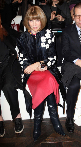 Anna Wintour at Fashion Week in NYC