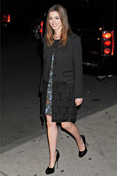 Anne Hathaway Evening Coat