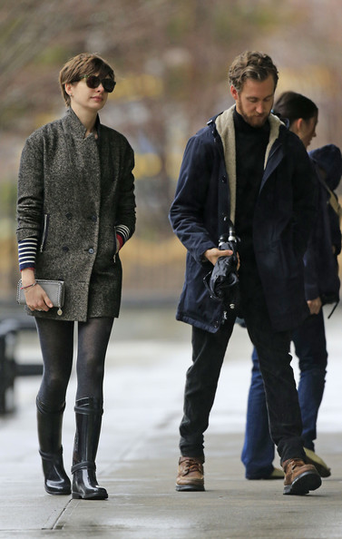 Anne Hathaway Tweed Coat
