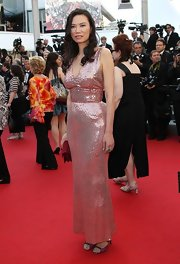 Wendi Deng stepped out wearing a sequined dress fit for the red carpet premiere of 'Paperboy.'