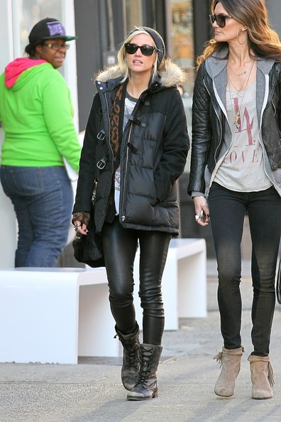More Pics of Ashlee Simpson Combat Boots (2 of 8) - Ashlee Simpson Lookbook - StyleBistro