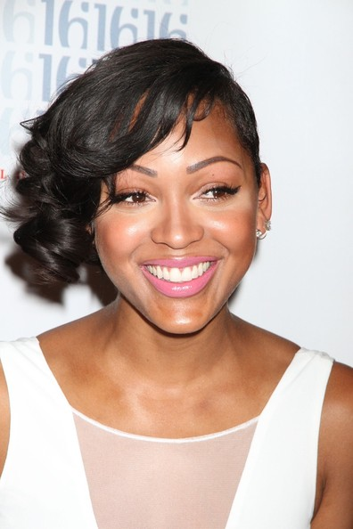 More Pics of Meagan Good Short Curls (1 of 17) - Short Curls Lookbook - StyleBistro
