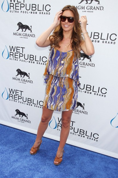 Audrina Patridge Print Dress