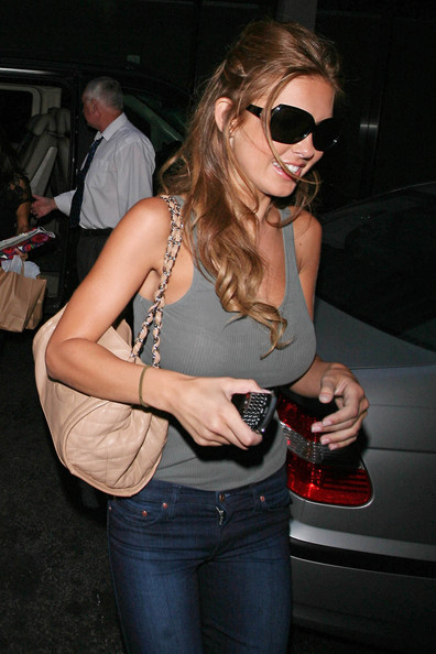 Audrina Patridge Quilted Leather Bag