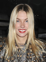 Jessica Hart's long locks looked super bright and shiny while she went out for an evening in Manhattan.