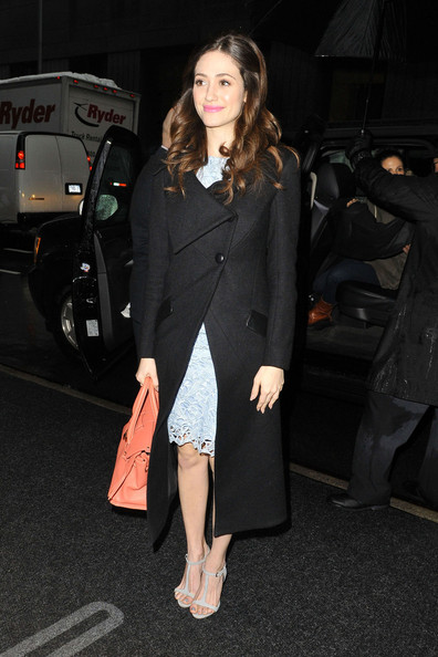 More Pics of Emmy Rossum Leather Tote (1 of 13) - Emmy Rossum Lookbook - StyleBistro