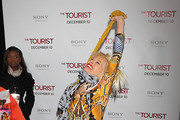 Betsey Johnson pose on the red carpet on at the world premiere of The Tourist at the Ziegfield Theater in New York..