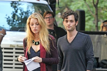 Blake Lively Penn Badgley Blake Lively and Penn Badgley Film 'Gossip Girl'