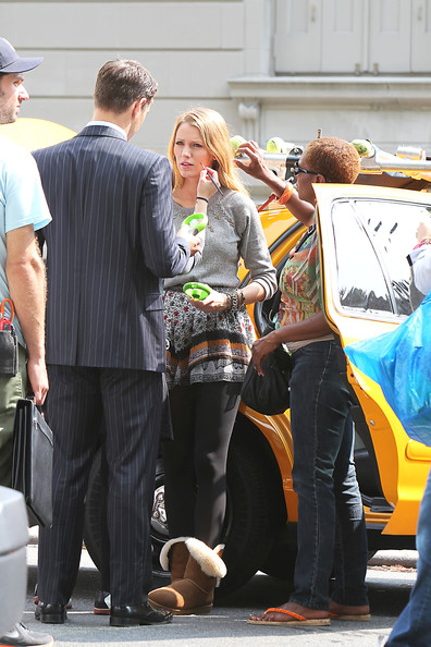 Sam Page on the Set of 'Gossip Girl'