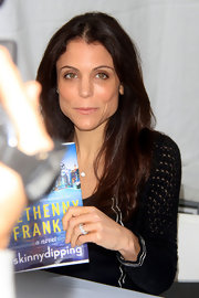 Bethenny Frankel attended the 'LA Times' Festival of Books looking fresh-faced with a hint of glossy nude lip color.