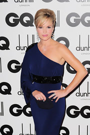 Amanda Holden carried a simple tiny black clutch to the GQ Men of the Year Awards.