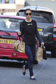 Despite her fitted jacket, Pippa's pair of skinny jeans kept her look on the relaxed side.