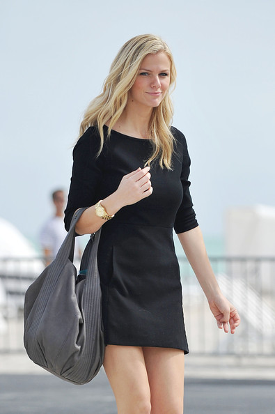 Brooklyn Decker Gold Chronograph Watch