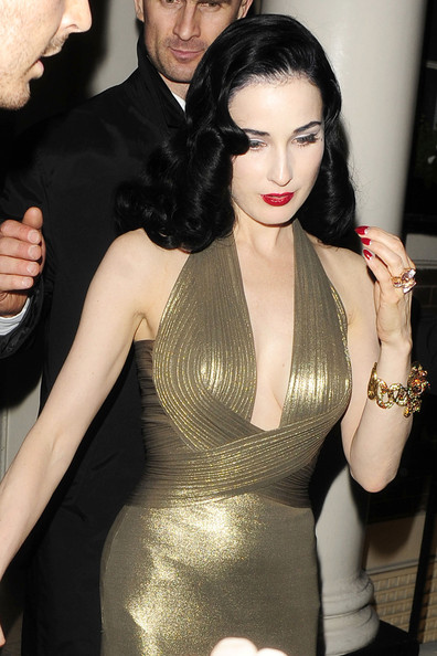 More Pics of Dita Von Teese Moon Manicure (3 of 4) - Nails Lookbook - StyleBistro