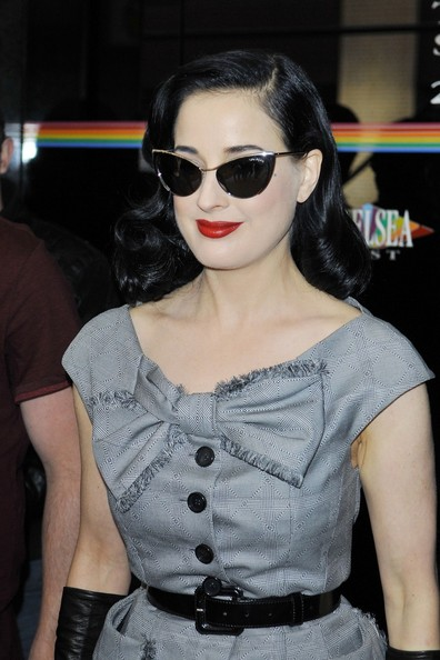 cf31bf0b8ea5 More Pics of Dita Von Teese Cateye Sunglasses (18 of 29) - Dita Von Teese  Lookbook - StyleBistro