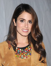 Nikki Reed's hair was in long wavy locks at the Charlotte Ronson fall 2012 fashion show.