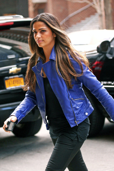 More Pics of Camila Alves Motorcycle Jacket (2 of 6) - Camila Alves Lookbook - StyleBistro