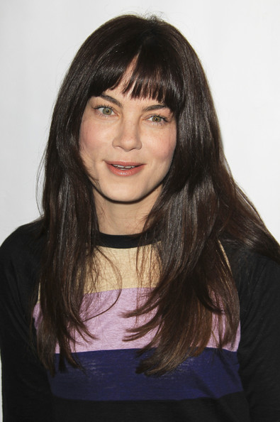 More Pics of Michelle Monaghan Long Straight Cut with Bangs (1 of 1) - Long Hairstyles Lookbook - StyleBistro []