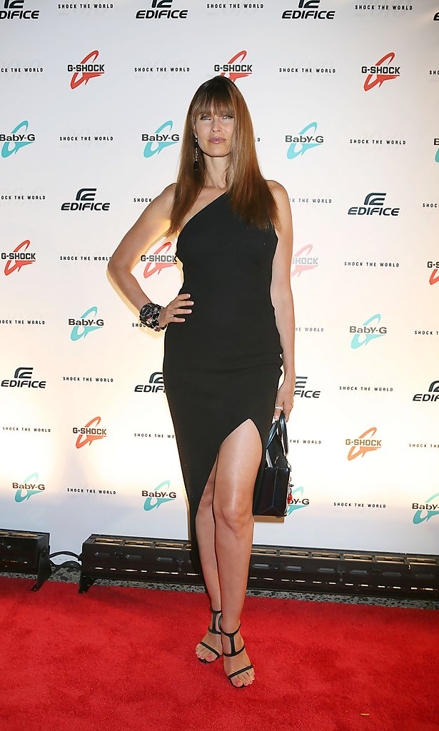 Carol Alt One Shoulder Dress Carol Alt Looks Stylebistro
