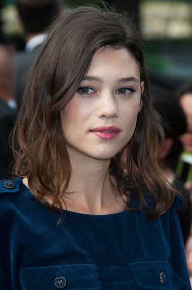 Astrid Berges Frisbey attended the Chanel fashion show wearing her signature tousled waves.