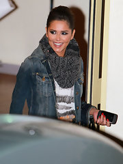 Cheryl was spotted leaving the X-Factor studios sporting a sleek bun.