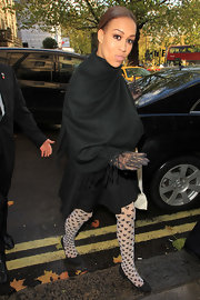 Rebecca Ferguson was all covered up in a black pashmina as she made her way to a London hotel.