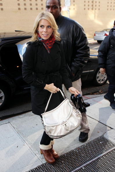 Cheryl Hines Leather Shoulder Bag