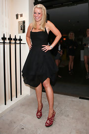 Liz Mcclarnon's red evening sandals at the finale party of 'The Hills' looked ultra-sexy.