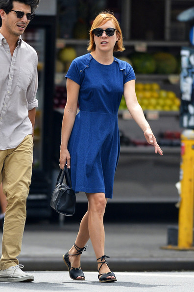 More Pics of Chloe Sevigny Denim Dress (1 of 7) - Denim Dress Lookbook - StyleBistro
