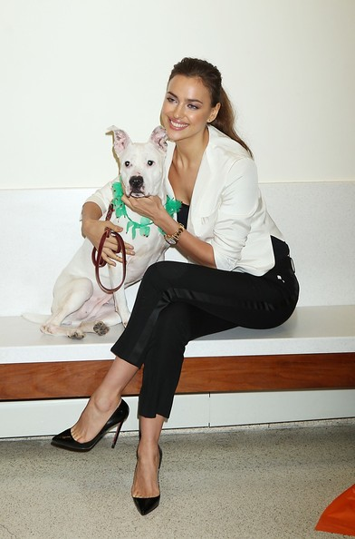 Irina Shayk Poses With One Lucky Dog