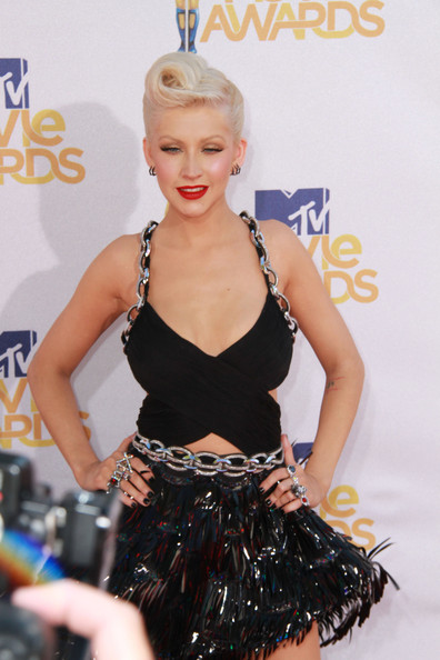 Christina Aguilera French Twist