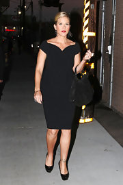Christina proves once again that you cannot go wrong in a little black dress!