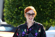 Christina Hendricks Rocks an 80's Day Dress