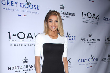 Ciara Rocks A Color-Blocked Cocktail Dress