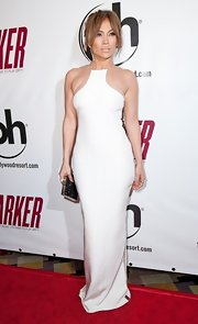 Jennifer looked divine in this racer-neck white colomn gown at the 'Parker' premiere in Las Vegas.