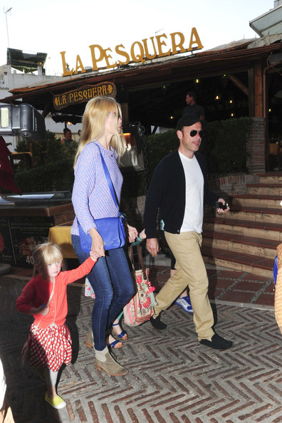 Claudia Schiffer Shops with Her Family