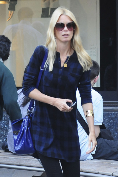 Claudia Schiffer and Matthew Vaughn Out in London