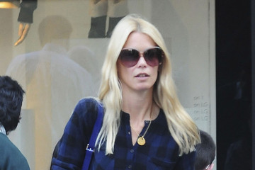 Claudia Schiffer Matthew Vaughn Claudia Schiffer and Matthew Vaughn Out in London