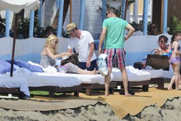 Claudia Schiffer Matthew Vaughn Claudia Schiffer and Family Relax in Costa del Sol