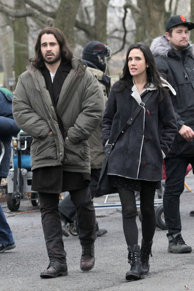 Jennifer Connelly and Colin Farrell on Set