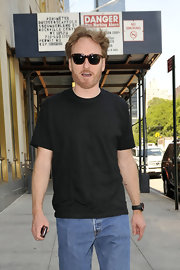 Conan showed off cool wayfarer shades while out in New York city.