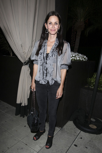 Courteney Cox Ruffle Blouse