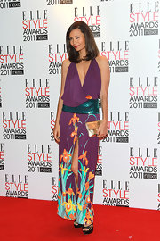 Thandie was a garden of beauty in a halter evening dress with a botanical print at the Elle Style Awards in London.